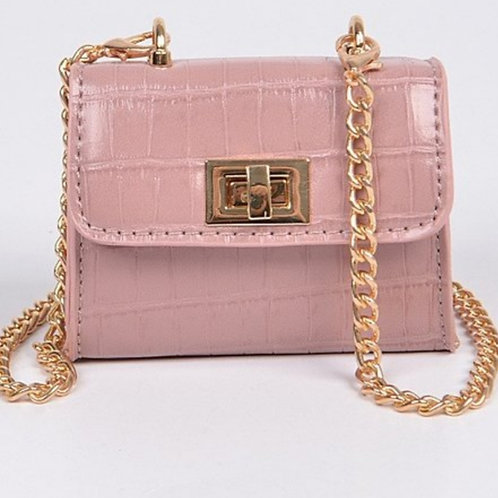 Mini Blush Crossbody w/ Gold Chain