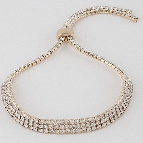 Slide Gold Rhinestone Bracelet