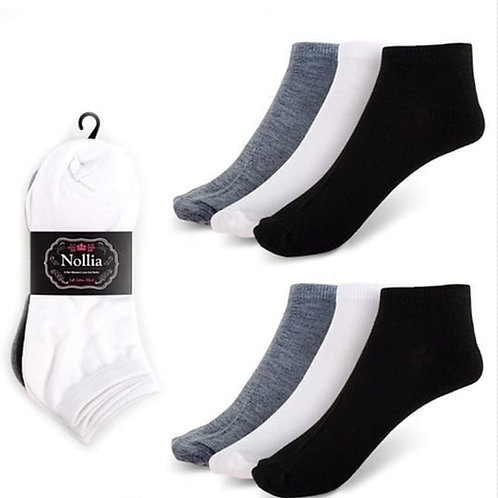 Black White Ankle Socks