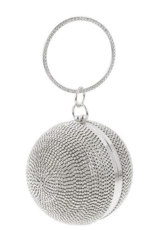 Silver Ball Clutch