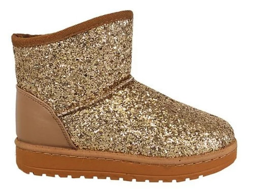 Gold Glitter Girls Boot