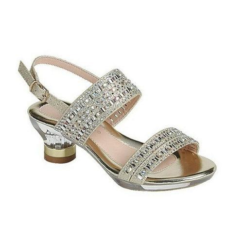 Girls Gold Heel