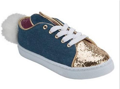 Denim Bunny Flat Sneaker