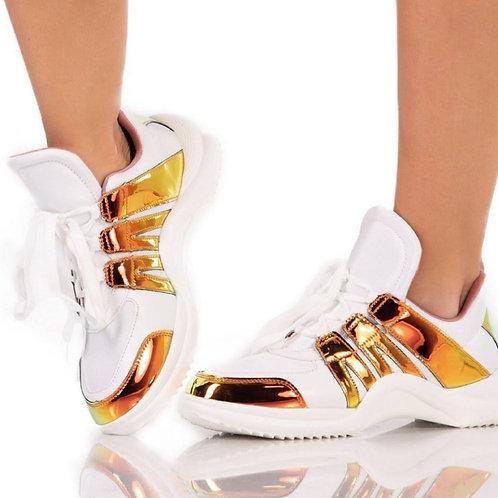 High Arch Metallic Sneaker