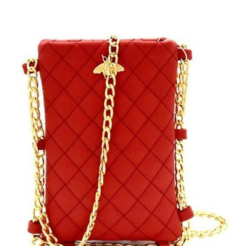 Red, Gold Bumble Bee Crossbody