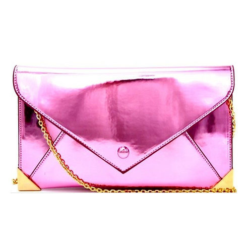 Pink Hologram Clutch