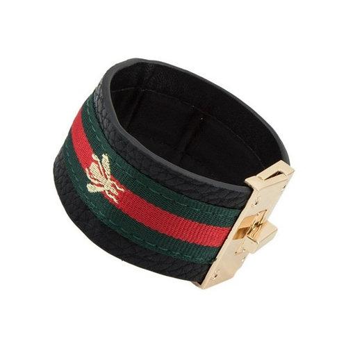 Red Green Bracelet Cuff