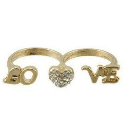Love 2 Finger Ring