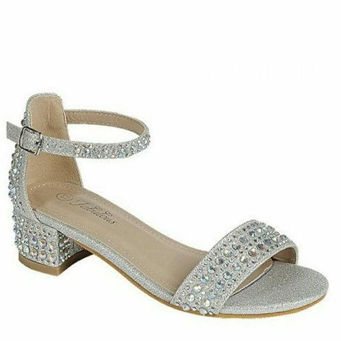 Silver Rhinestone Girl Shoe