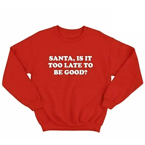 Santa, Is It Too Late To Be Good?