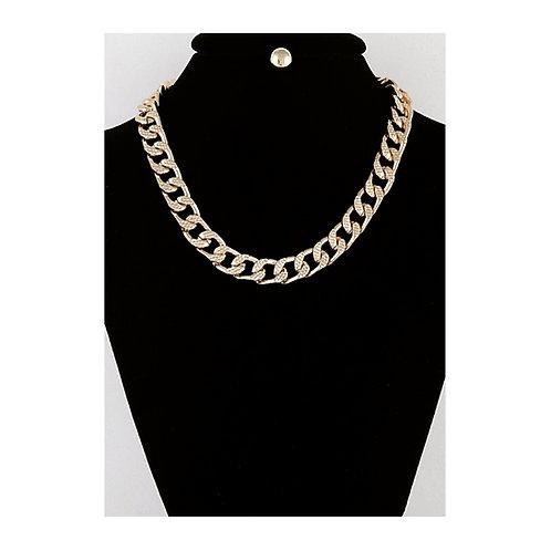Cuban Link Necklace w/ Stud Earrings