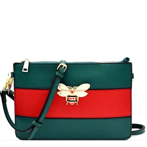 Red Green Bumble Bee Clutch