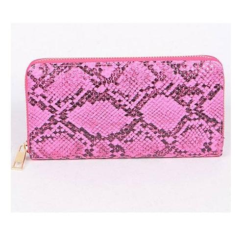 Neon Snakeskin Wallet/Clutch