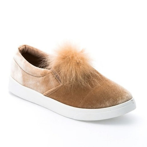 Beige Velour Sneaker