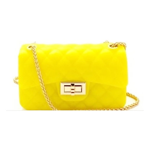 Yellow Crossbody w/ Gold Chain