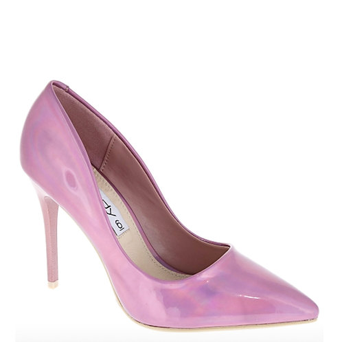 Pink Hologram Stilleto