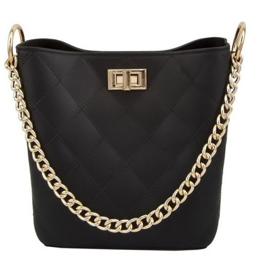 Black Handbag w/ Gold Chain