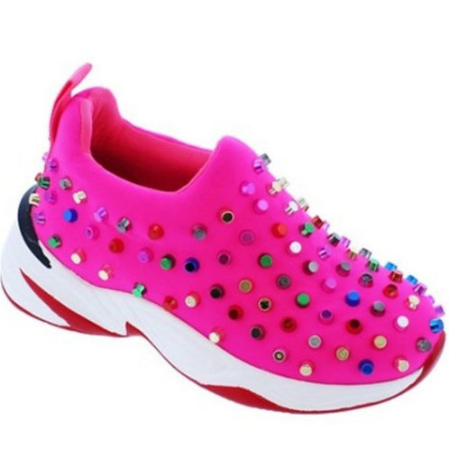 Pink Spiked Girl Sneakers