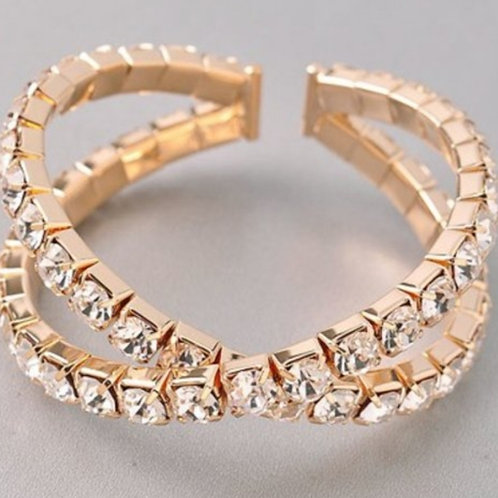 Gold Rhinestones Bracelet
