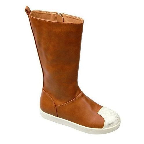 Snakeskin Toe Brown Boot