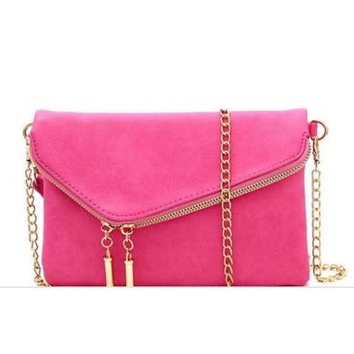Pink Two-Way Clutch