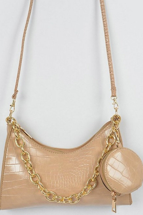 Small Wallet Gold Chain Crossbody