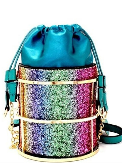 Rainbow Glitter Shoulder Bag