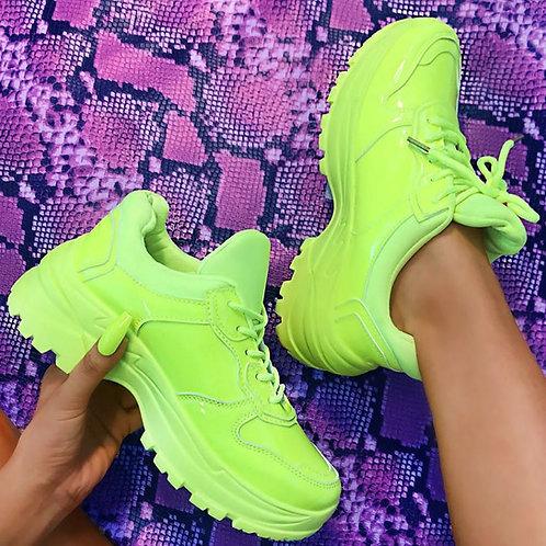 Neon Yellow Sneaker