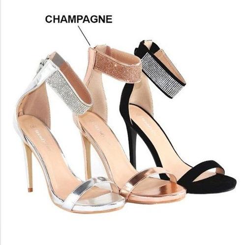 Champagne Rhinestone Stilleto
