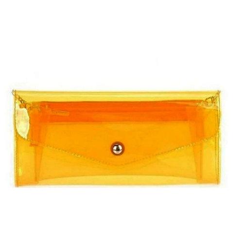 Clear Neon Orange Crossbody