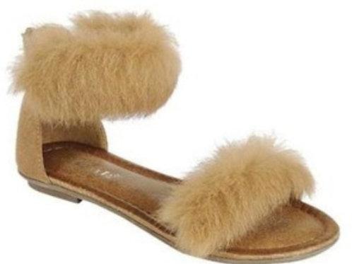 Girls Fur Sandals