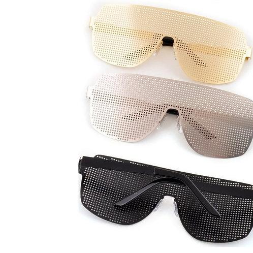 Metallic Frame Sunglasses