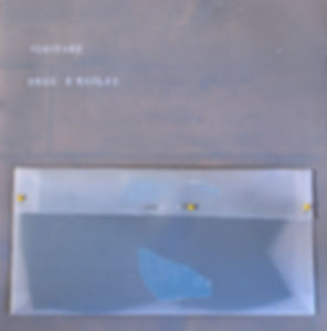 Mozaïpeinture. juillet 2013. pochette de vinyle/ vinyle/ velum/ peinture/ crayons