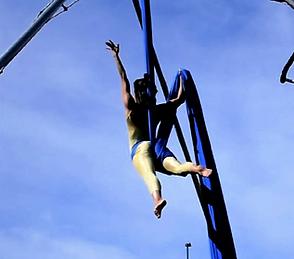 Performer on Aerial Silks