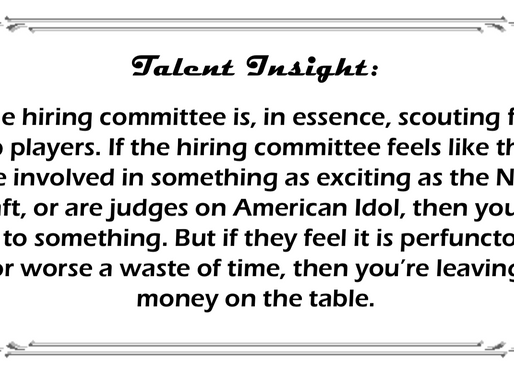 Talent Acquisition - One part candidate and ten parts company