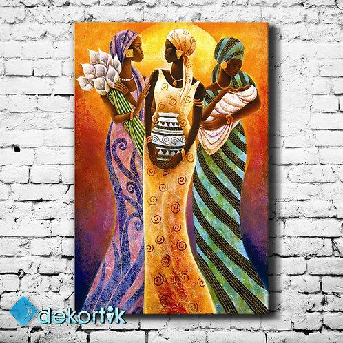 African Woman Kanvas Tablo