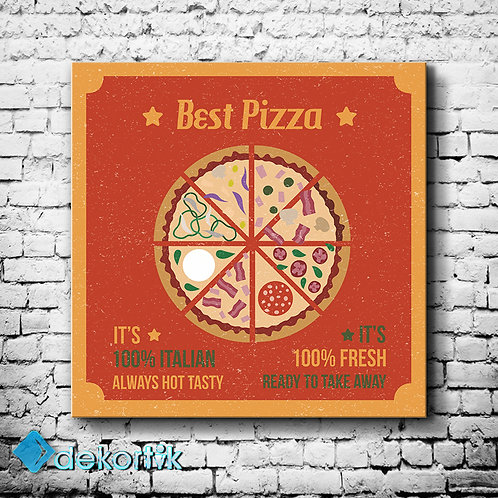 Vintage Pizza Tablo