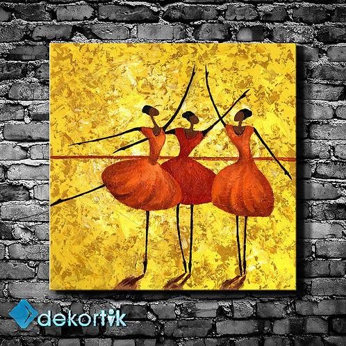 Baletler Kanvas Tablo
