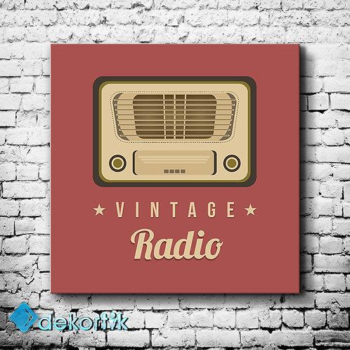 Vintage Radio Tablo
