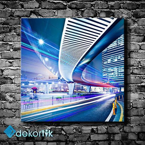 Şehir Işıklar Kanvas Tablo