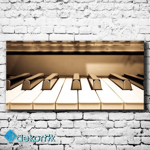 Pano Sepya Piyano Kanvas Tablo
