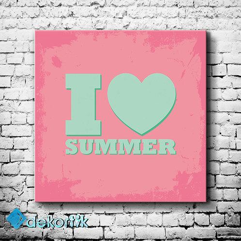 Tipografi Love Summer Tablo
