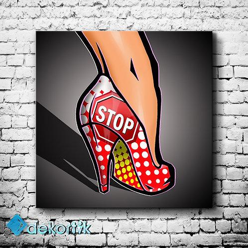 Woman Stop Kanvas Tablo