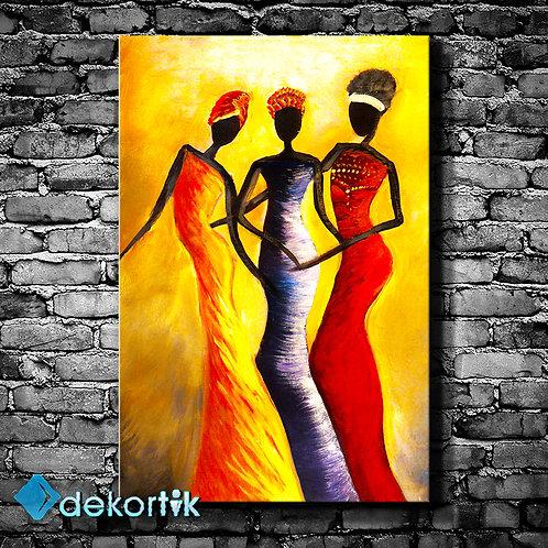 African Womans Tablo