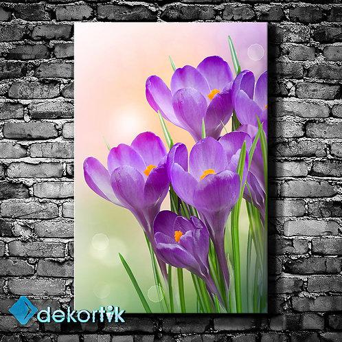 Mor Çiçekler Tablo