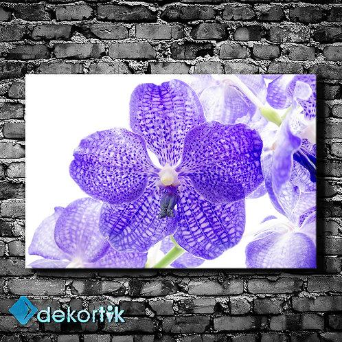 Mor Çiçek Kanvas Tablo