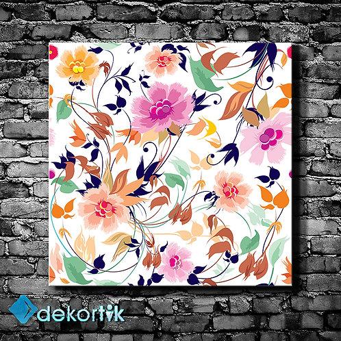 Çiçek Desen Tablo