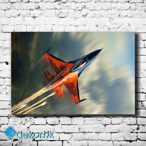 Jet Uçak Kanvas Tablo