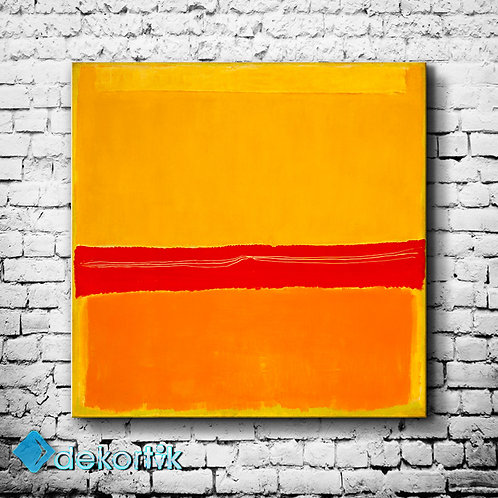 Abstract Red Yellow Tablo I
