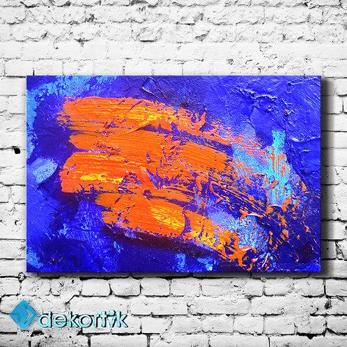 Soyut Orange Kanvas Tablo